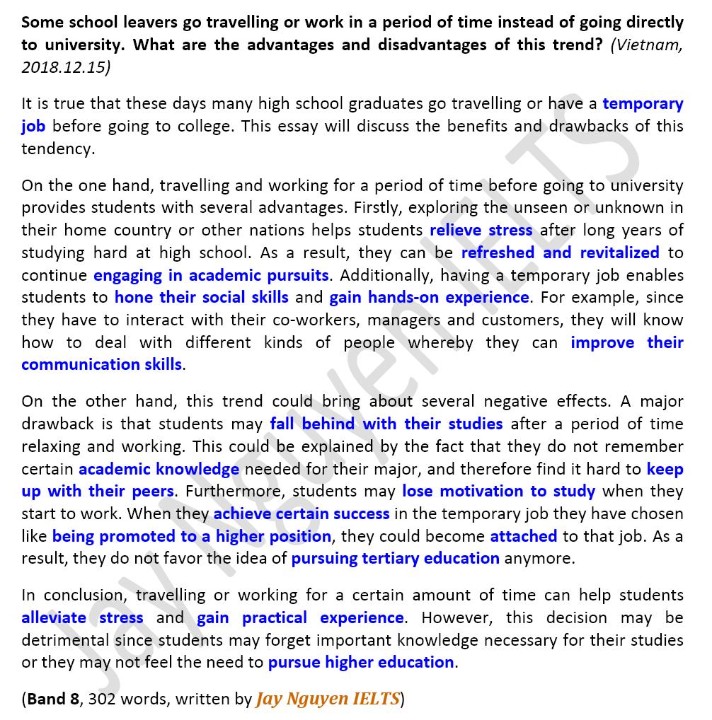 bài mẫu ielts writing task 2