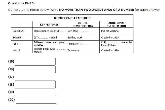 Bài tập IELTS và đáp án mẫu đề thi IELTS Listening (update liên tục 2020)