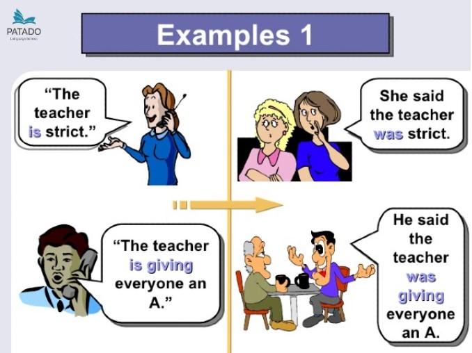ví dụ chuyển đổi câu trực tiếp sang câu gián tiếp