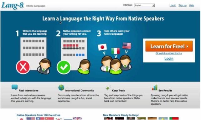 Học tiếng Anh trực tuyến cùng Lang-8