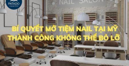 tiệm nail tại Mỹ