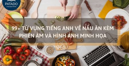 từ vựng tiếng anh về nấu ăn patado