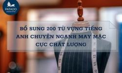 Bổ Sung 200 Từ Vựng Tiếng Anh Chuyên Ngành May Mặc Chất Lượng