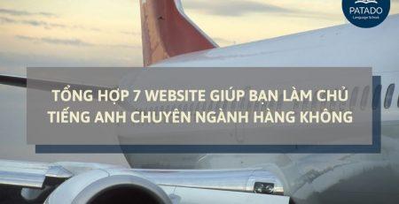 WEBSITE TIẾNG ANH CHUYÊN NGÀNH HÀNG KHÔNG